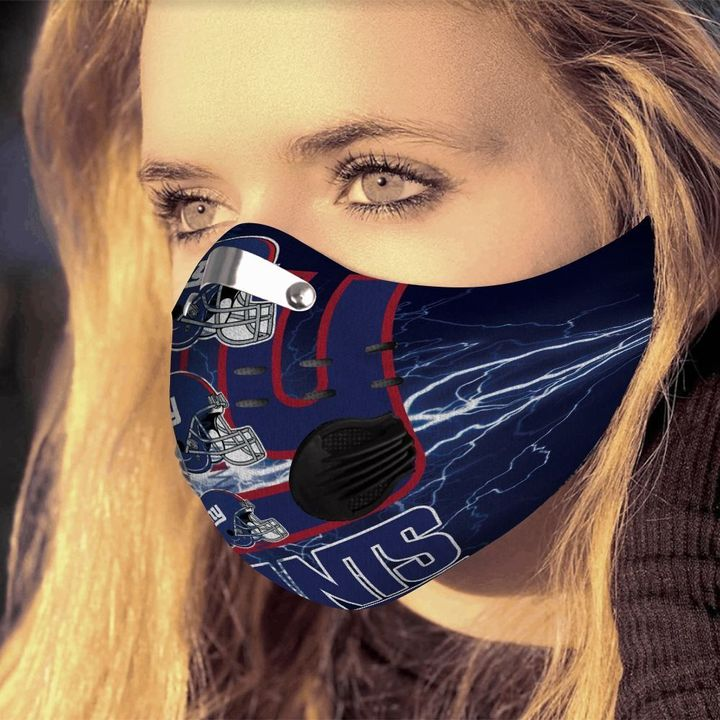 New york giants logo filter activated carbon face mask 4