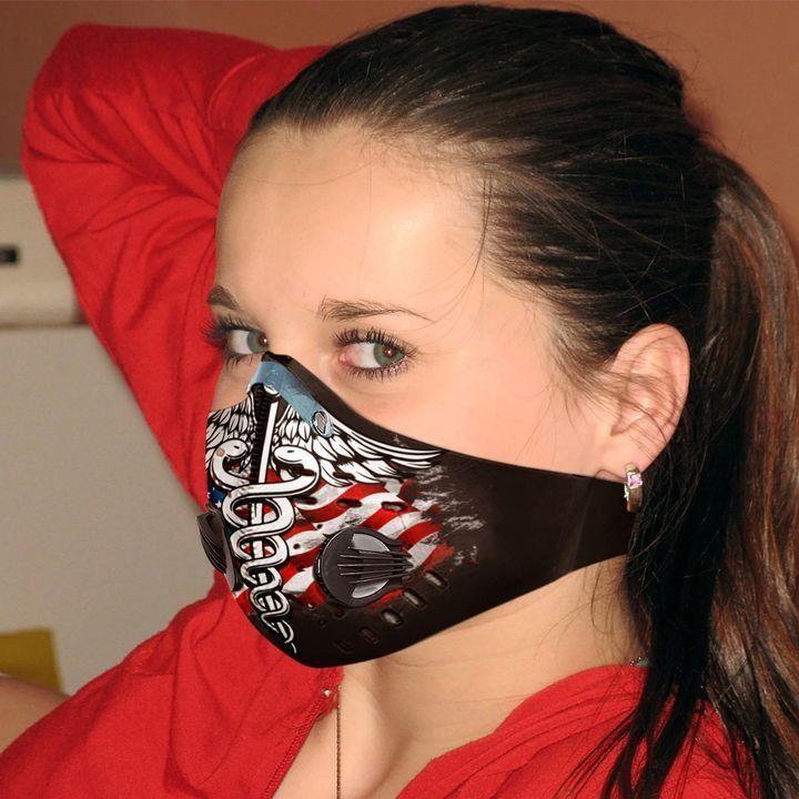 Nurse flag carbon pm 2,5 face mask 3