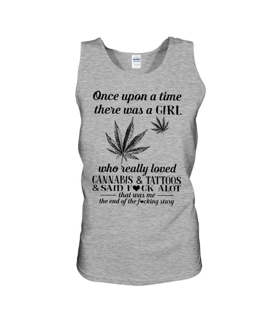 Once upon a time there was a girl who really loved cannabis and tattoos tank top