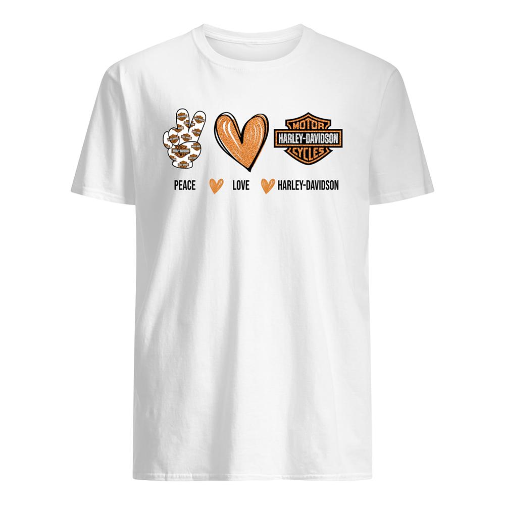 Peace love harley-davidson mens shirt