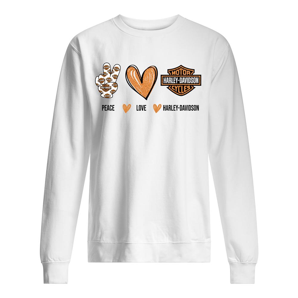 Peace love harley-davidson sweatshirt