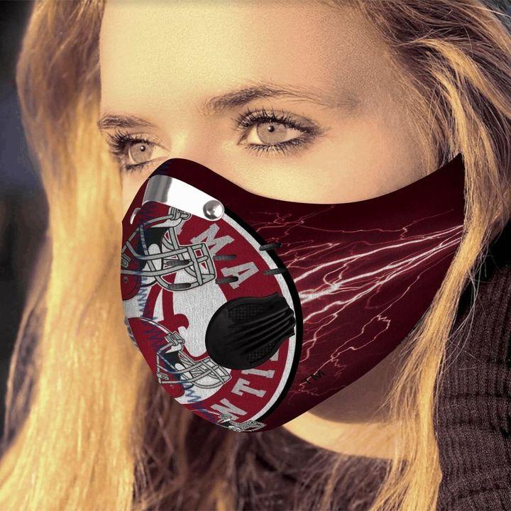 Personalized alabama crimson tide team nfl filter activated carbon face mask 4