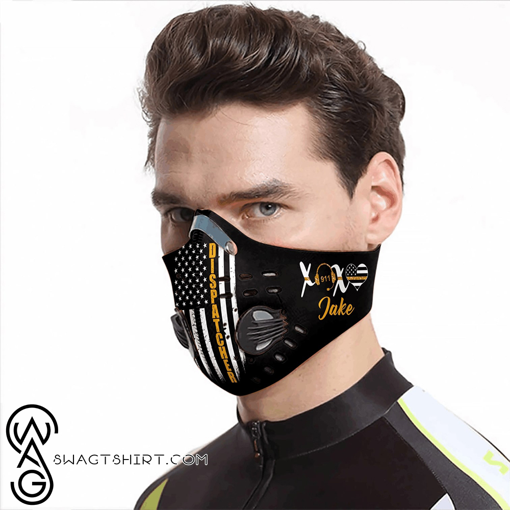 Personalized american flag dispatcher carbon pm 2,5 face mask