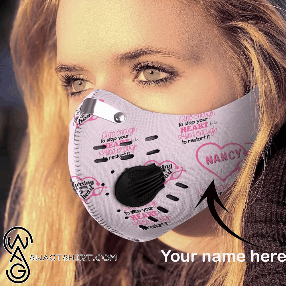 Personalized awesome nurse carbon pm 2,5 face mask