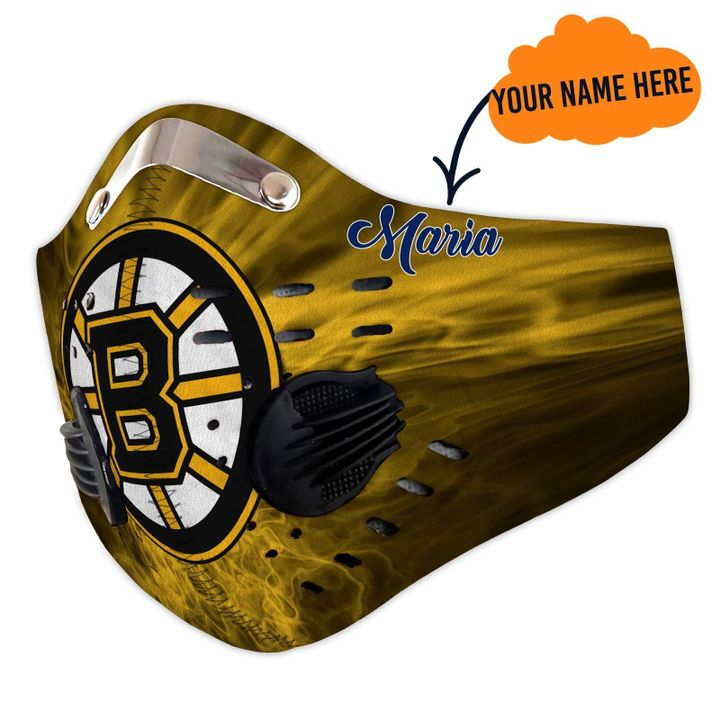 Personalized boston bruins filter activated carbon face mask 2