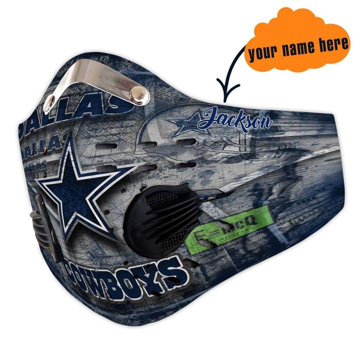 Personalized dallas cowboys carbon pm 2,5 face mask 2