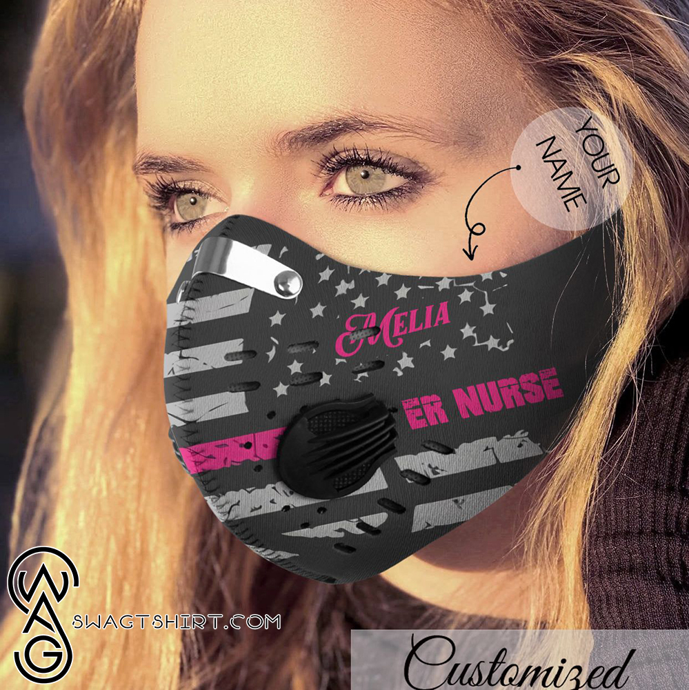 Personalized incredible nurse carbon pm 2,5 face mask