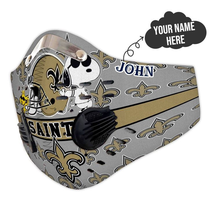 Personalized new orleans saints snoopy filter activated carbon face mask 3
