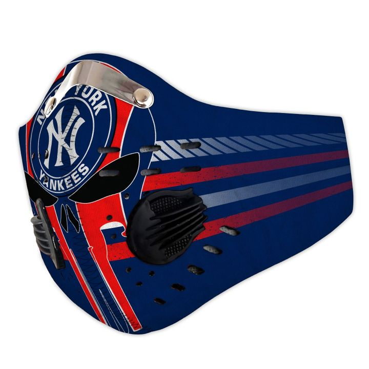 Personalized new york yankees logo filter activated carbon face mask 3