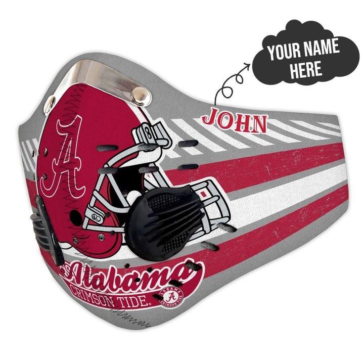 Personalized nfl alabama crimson tide helmet filter activated carbon face mask 1