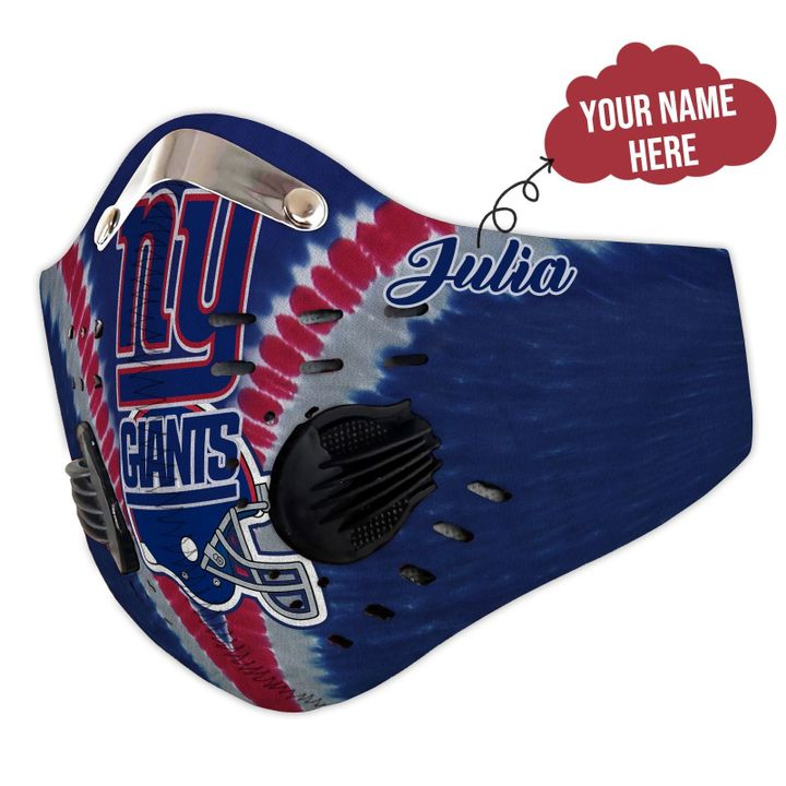 Personalized nfl new york giants filter activated carbon face mask 3
