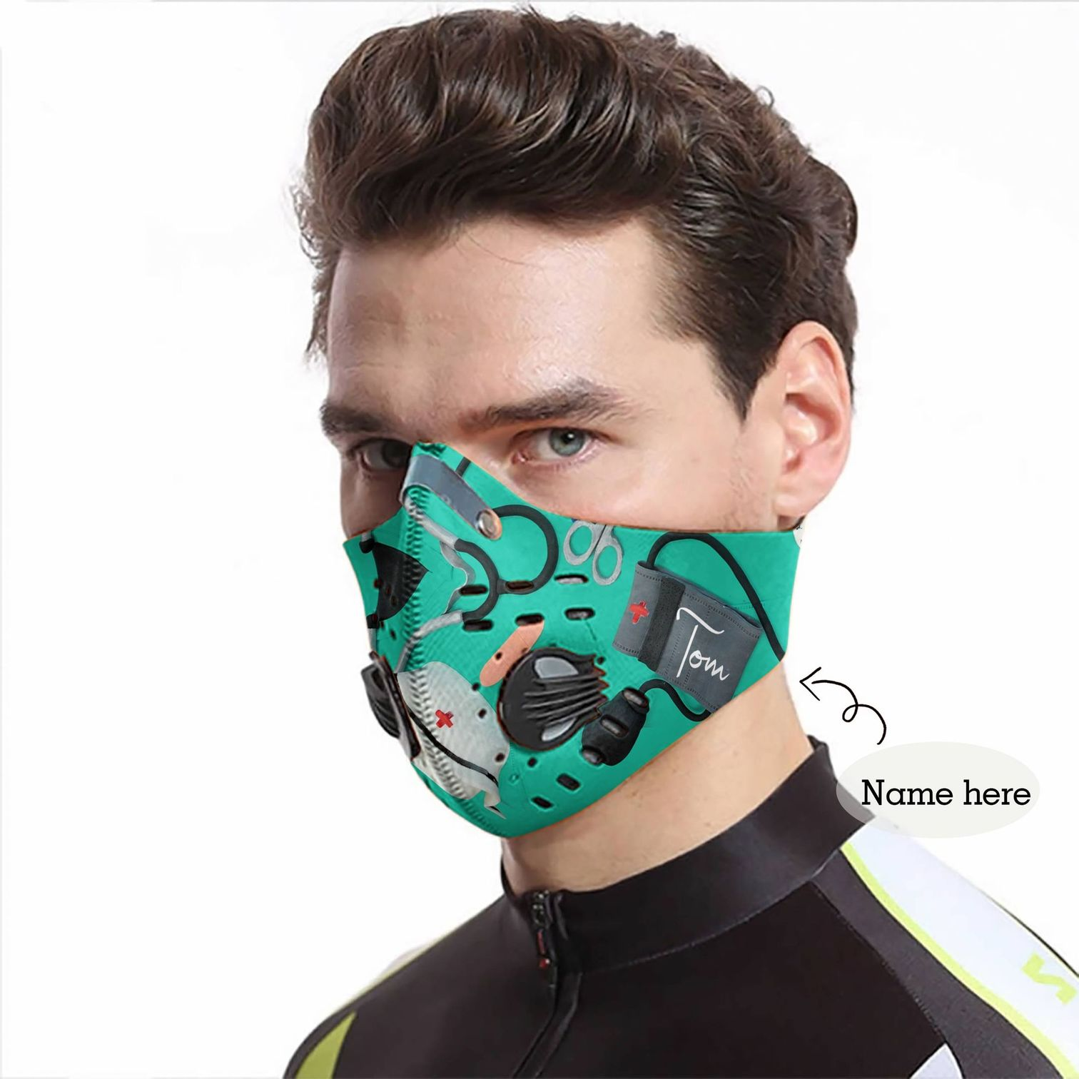 Personalized nurse be strong carbon pm 2,5 face mask 4