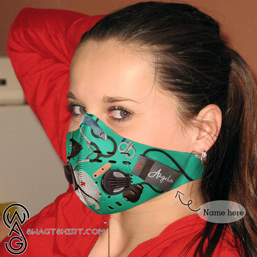 Personalized nurse be strong carbon pm 2,5 face mask