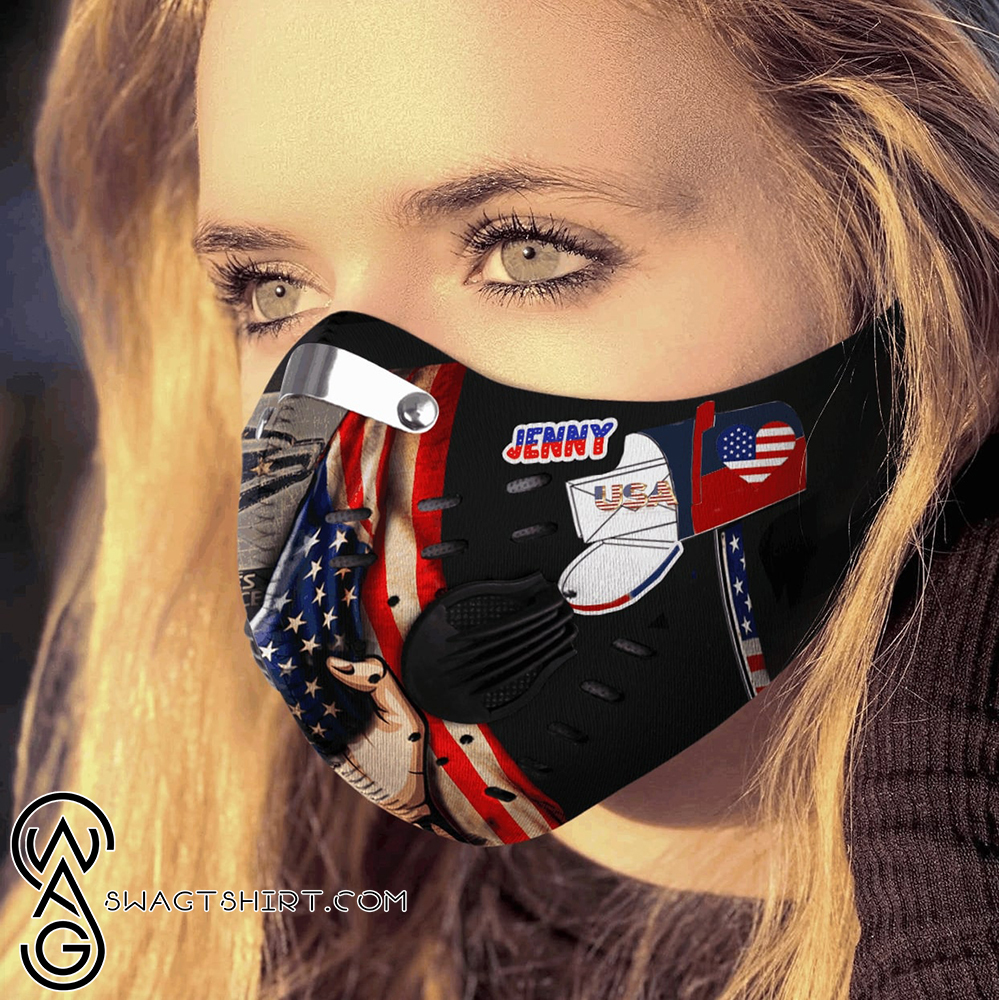 Personalized united states postal service carbon pm 2,5 face mask
