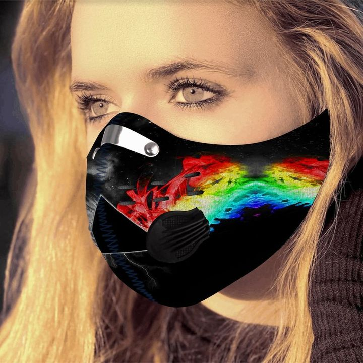Pink floyd the dark side of the moon filter activated carbon face mask 1