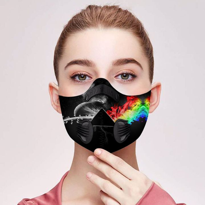 Pink floyd the dark side of the moon filter activated carbon face mask 2