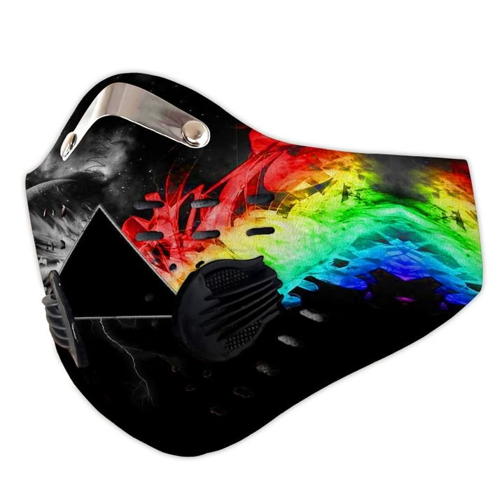 Pink floyd the dark side of the moon filter activated carbon face mask 4