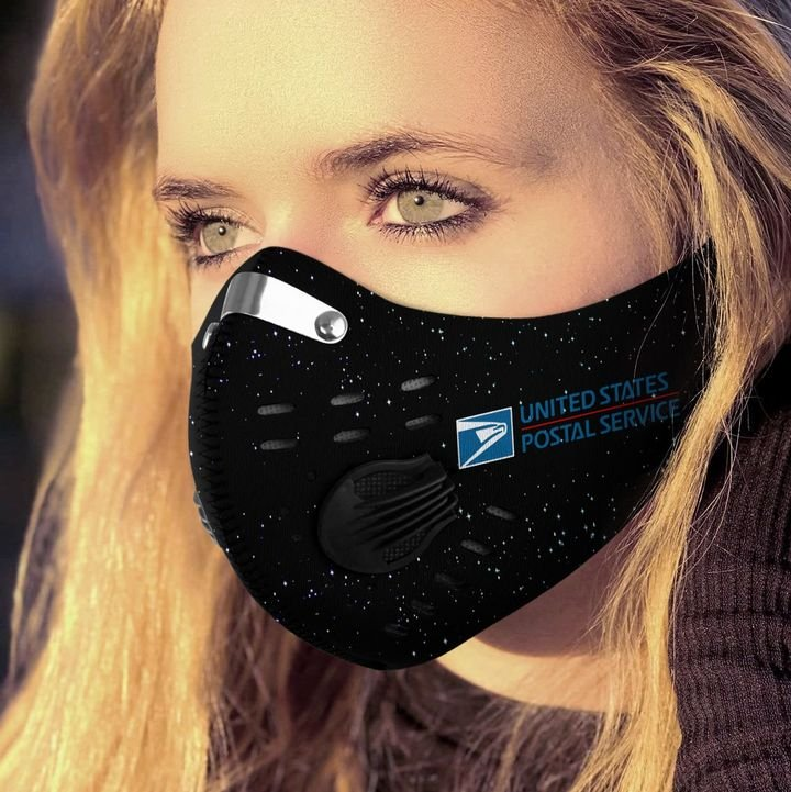 Proud to be a postal worker filter activated carbon face mask 3