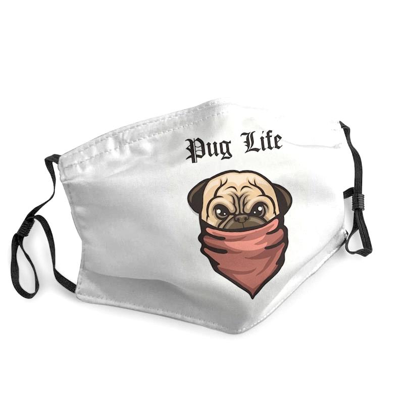 Pulldog pug life anti-dust cotton face mask 1