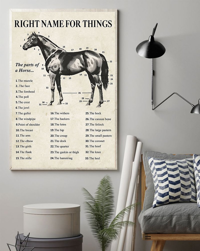 Right name for things horse poster 1