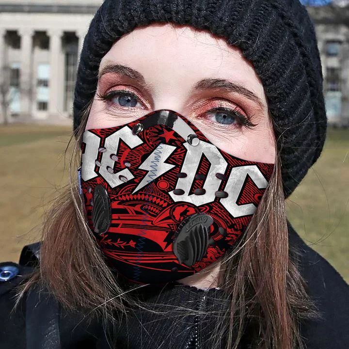 Rock band acdc carbon pm 2,5 face mask 1