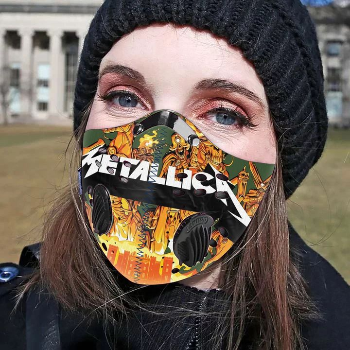 Rock band metallica filter activated carbon pm 2,5 face mask 1