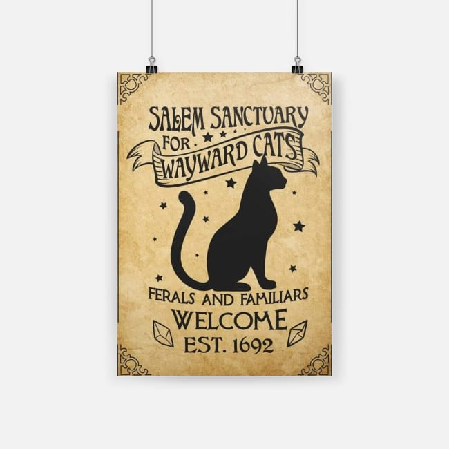 Salem sanctuary for wayward cats ferals and familiars welcome est 1692 poster 1