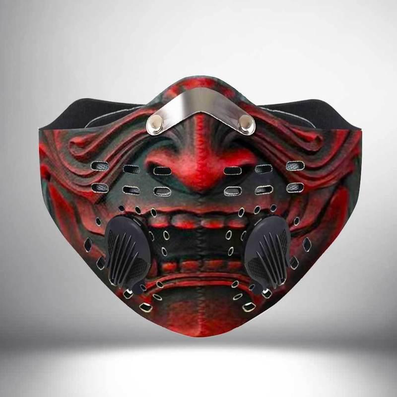Samurai face filter activated carbon face mask 1