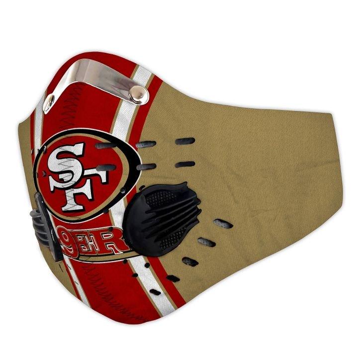 San francisco 49ers carbon pm 2,5 face mask 1