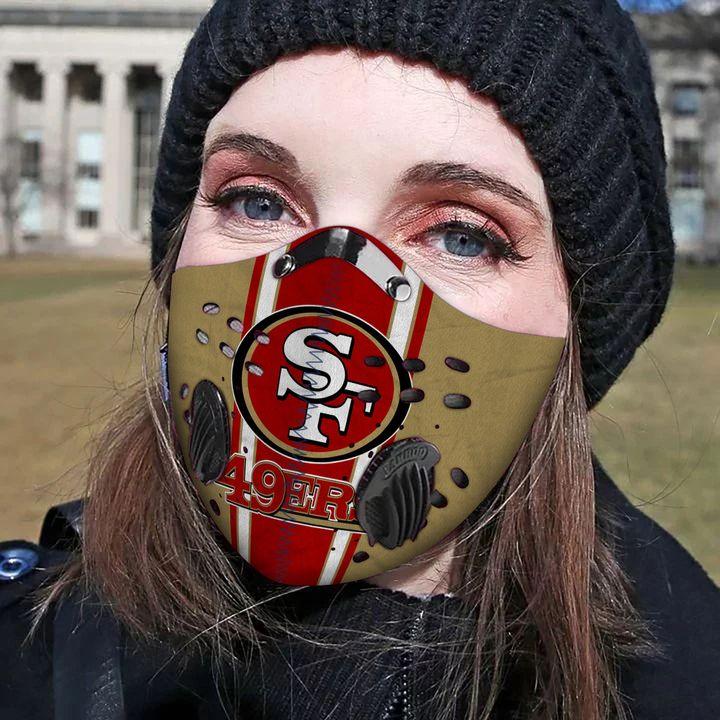 San francisco 49ers carbon pm 2,5 face mask 2