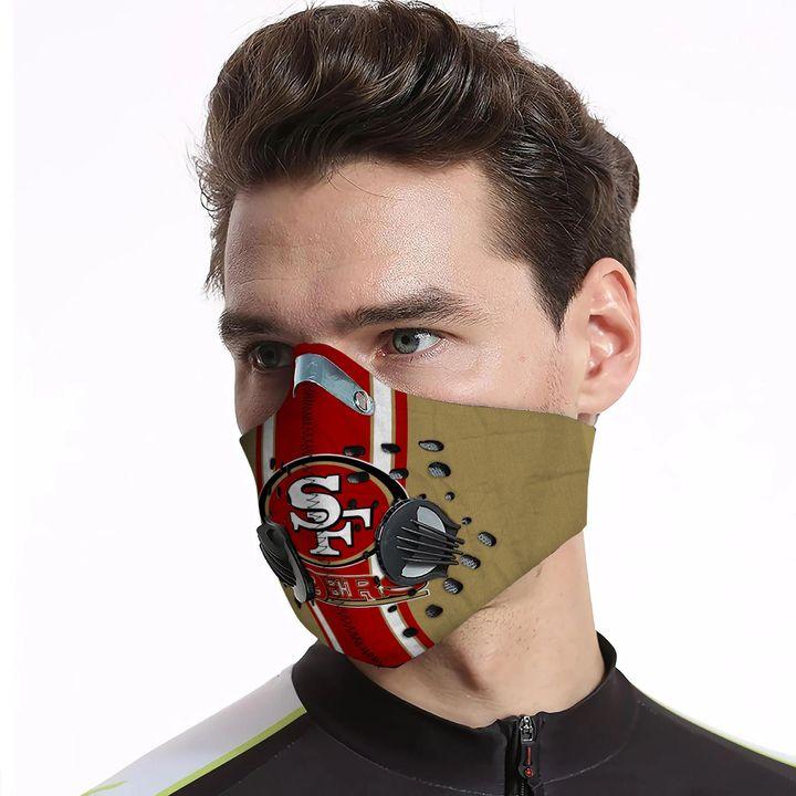 San francisco 49ers carbon pm 2,5 face mask 4