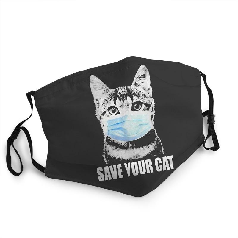Save your cat quarantine coronavirus anti-dust face mask 1