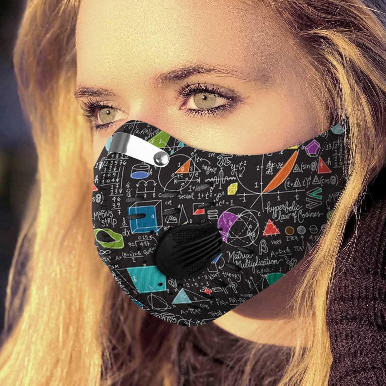 School math board carbon pm 2,5 face mask 2