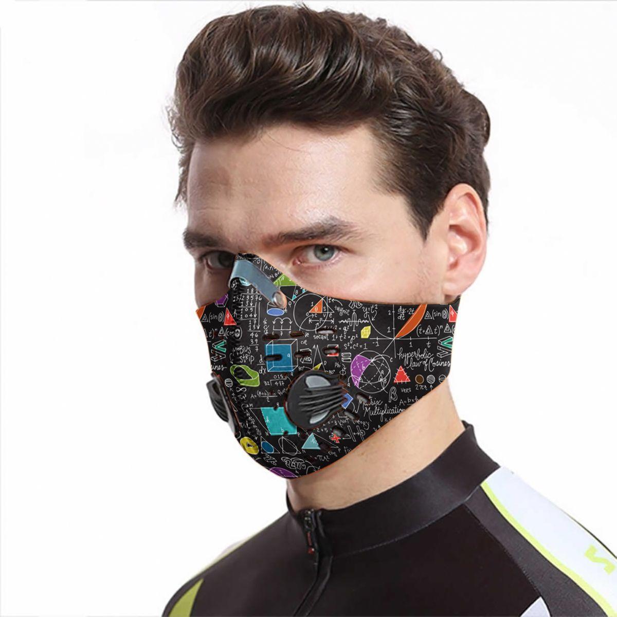 School math board carbon pm 2,5 face mask 4