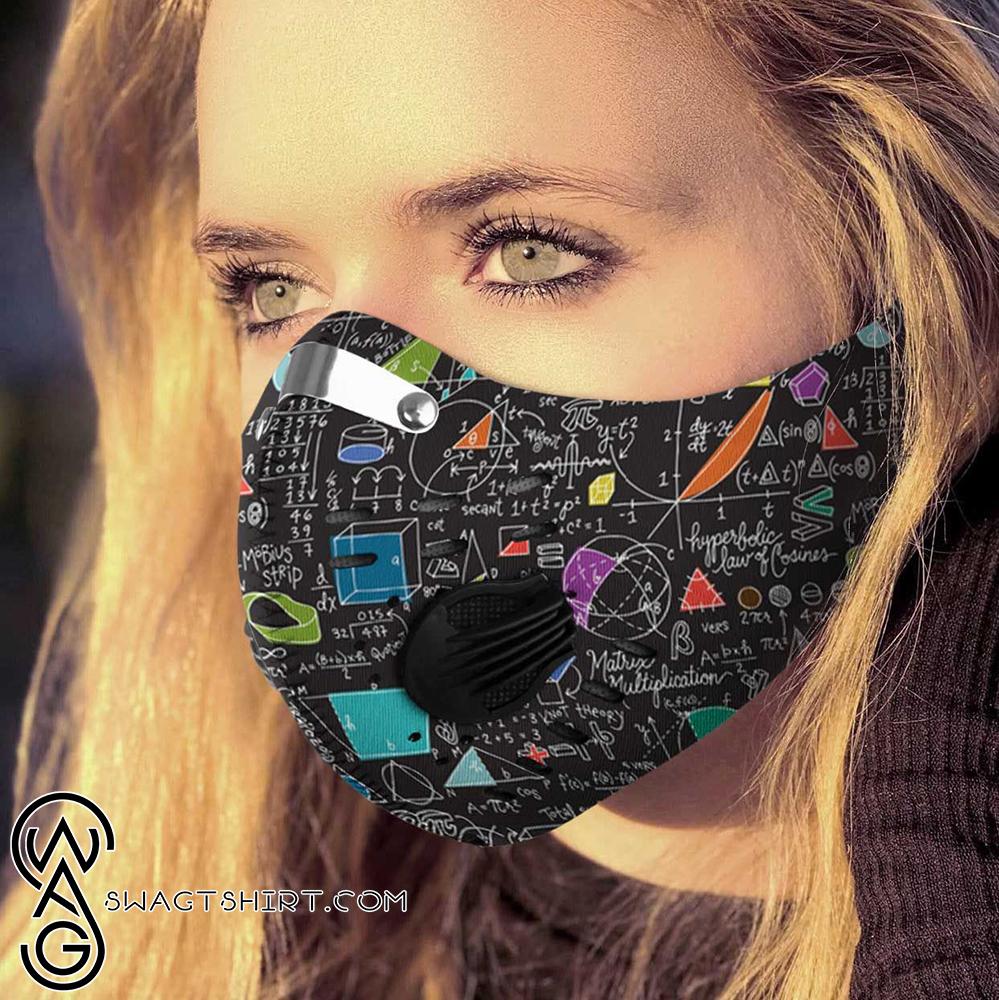 School math board carbon pm 2,5 face mask