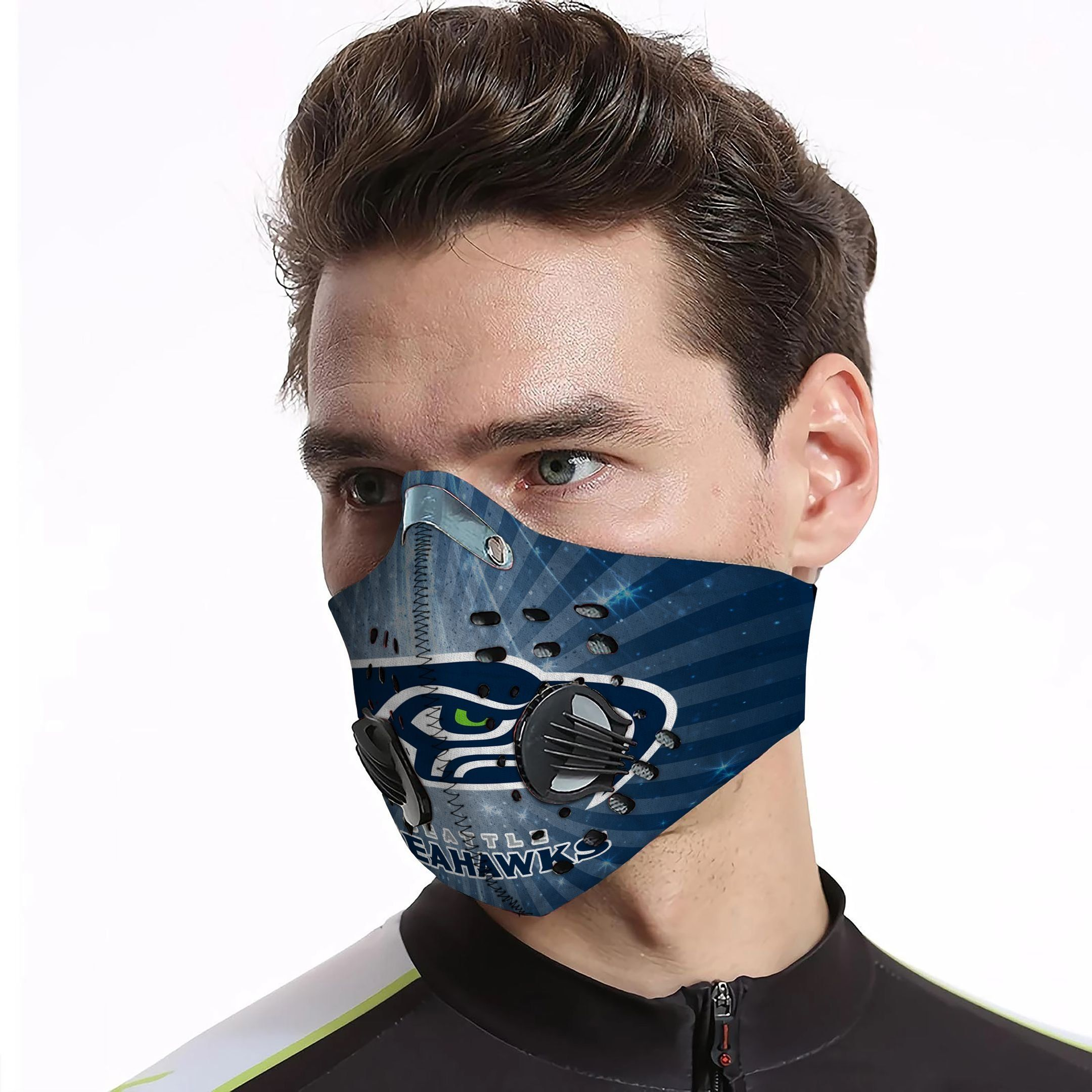 Seattle seahawks carbon pm 2,5 face mask 3