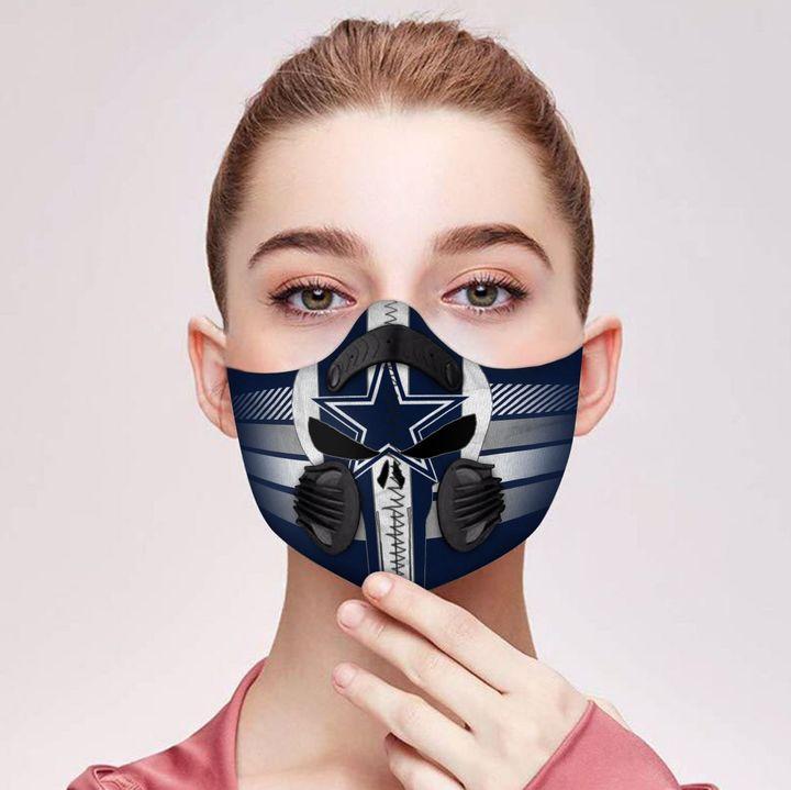 Skull dallas cowboys carbon pm 2,5 face mask 2