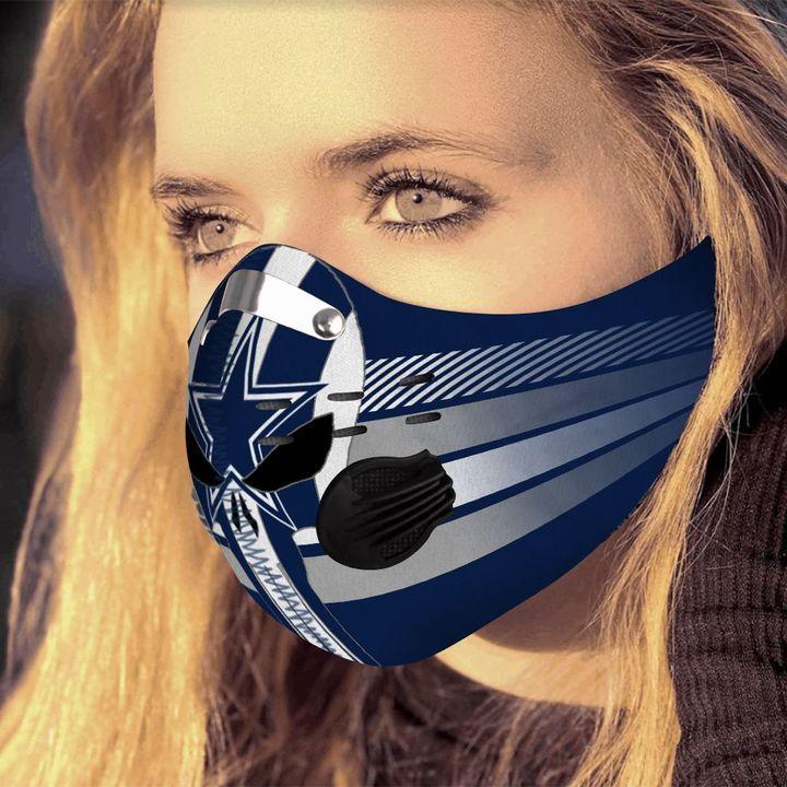 Skull dallas cowboys carbon pm 2,5 face mask 3