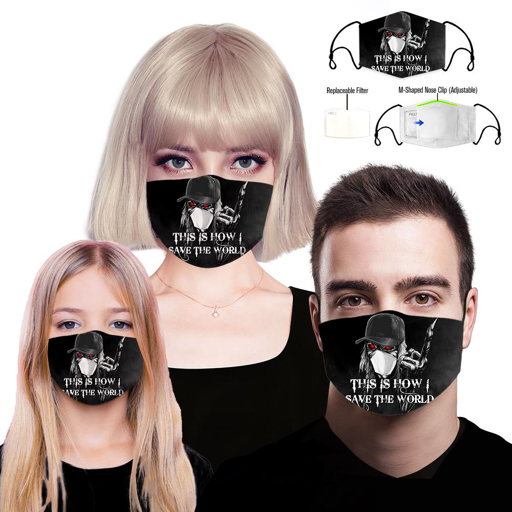 Skull iron maiden full printing face mask 1