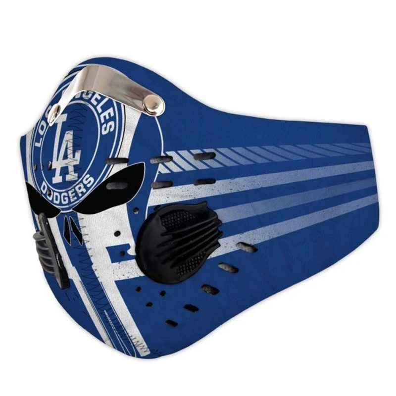 Skull los angeles dodgers filter activated carbon face mask 1