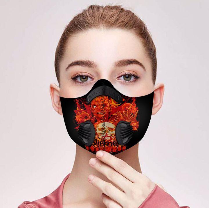 Skull slipknot carbon pm 2,5 face mask 2
