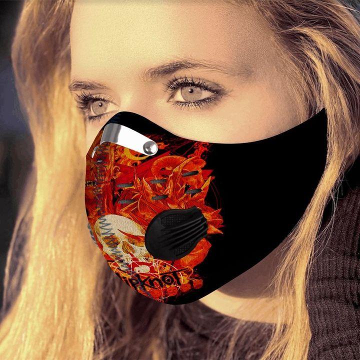 Skull slipknot carbon pm 2,5 face mask 4