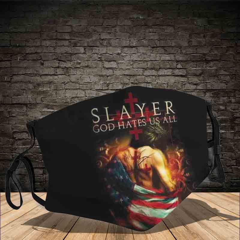 Slayer God hates us all full printing face mask 3