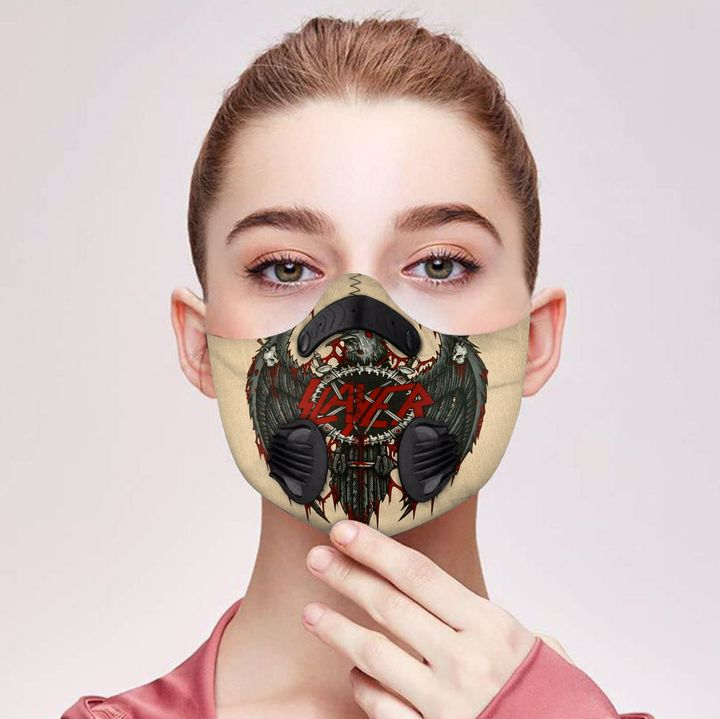 Slayer filter activated carbon pm 2,5 face mask 2
