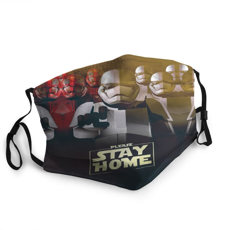 Star wars stormtrooper stay home quarantine coronavirus face mask 1