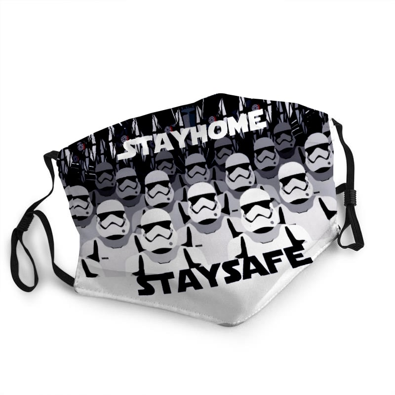 Star wars stormtrooper stay home stay safe anti-dust face mask 2