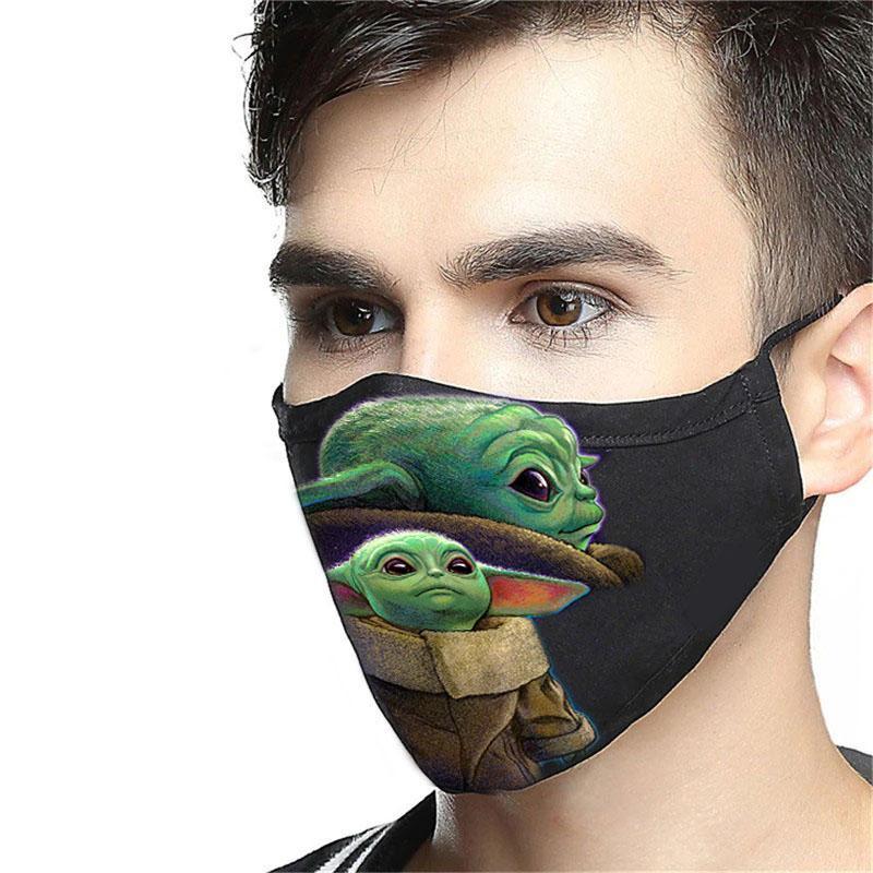 Star wars the mandalorian baby yoda anti-dust face mask 2