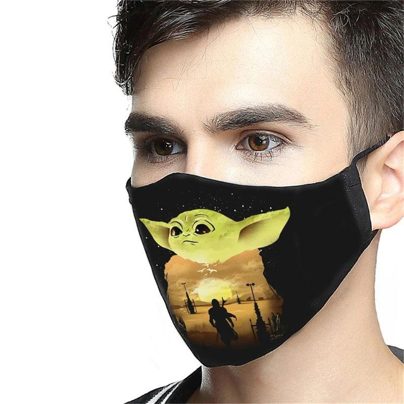 Star wars the mandalorian the child baby yoda face mask 1