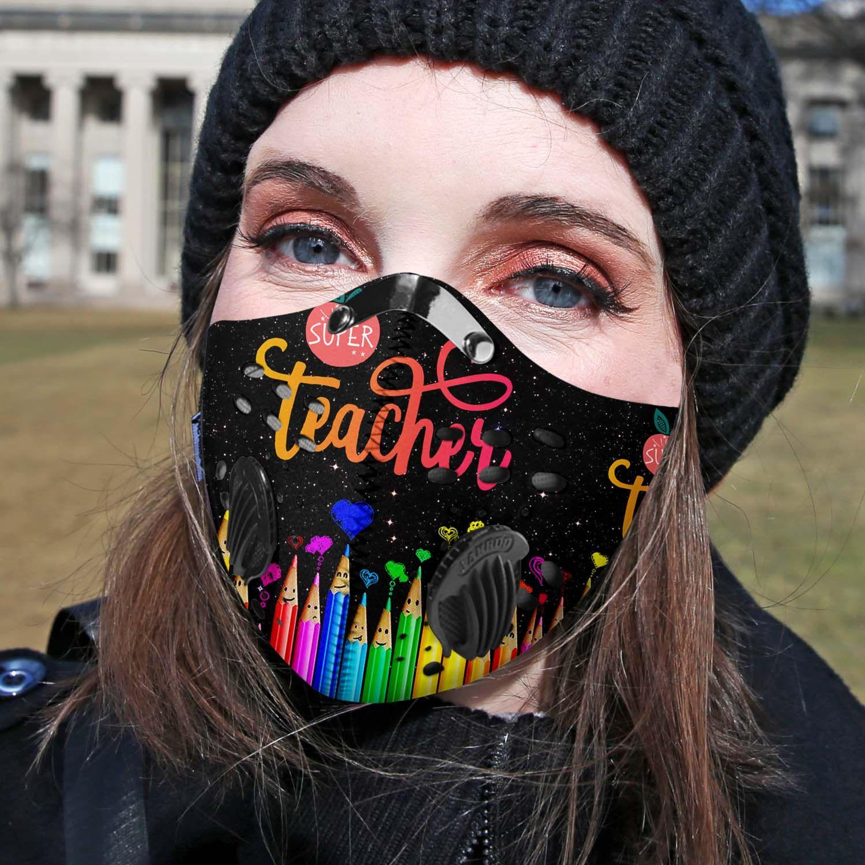 Super teacher carbon pm 2,5 face mask 1