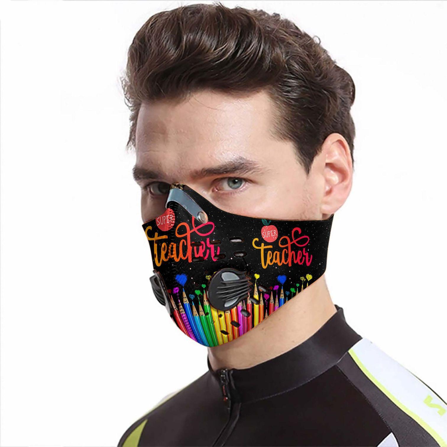 Super teacher carbon pm 2,5 face mask 2